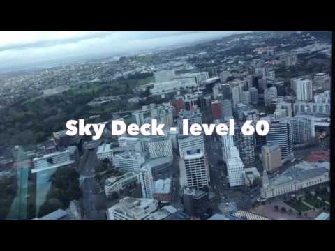WATCH THE AMAZING VIEW: Up the SkyCityTower, Auckland New Zealand