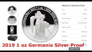 2019 Germania Silver 1 Oz Proof Coin & Q Round Showcasing