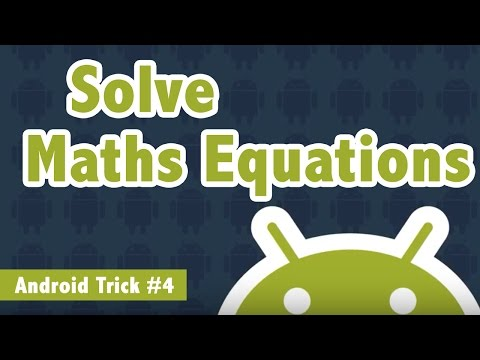 Solve Maths Equations Using Camera in Android Phone - Android Trick #4