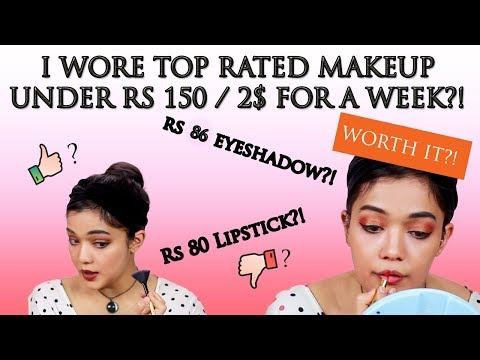 WEARING A FULL FACE OF MAKEUP UNDER 150 INR | NYKAA HAUL |