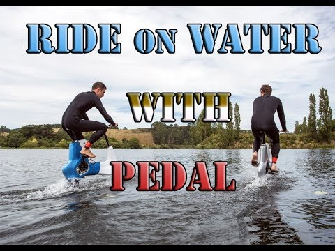 This BIKE lets you ride on WATER Easily......