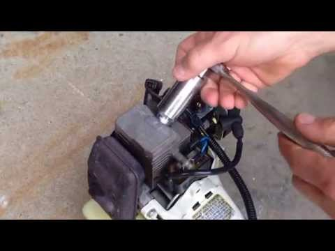 Testing and replacing the ignition coil on a Stihl FS 80R string trimmer