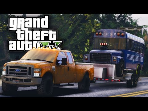 Buying a Drag Prison Bus! - GTA 5 Real Hood Life 2 - Day 44