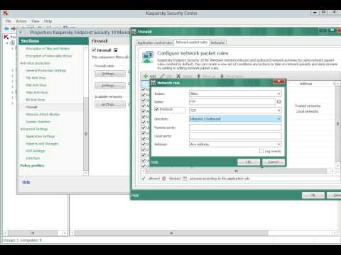 How to open FTP port in Kaspersky Endpoint Security 10 policy