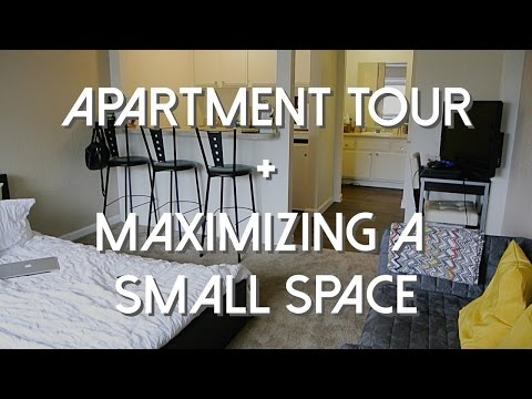 Studio Apartment Tour + Maximizing a Small Space