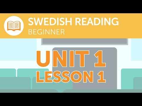 Swedish Reading for Beginners - What is the Last Stop of this Train?