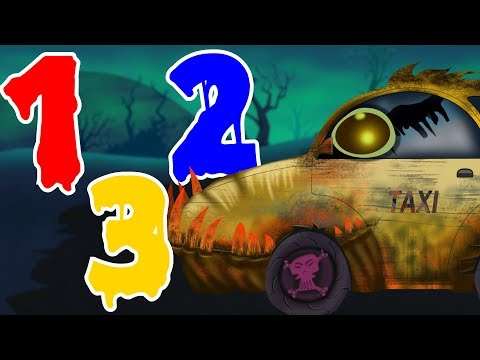 Scary Taxi | Learn Numbers | Counting Numbers | Street Vehicle