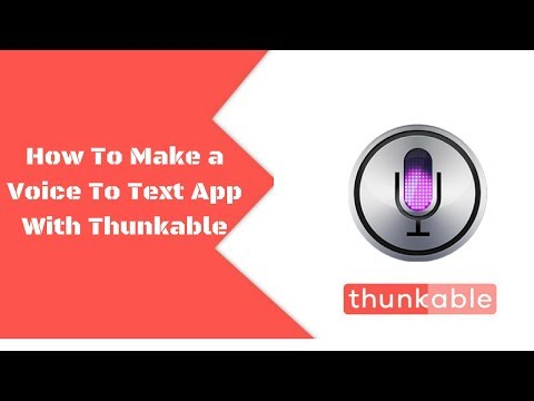 How To Make a Voice To Text App With Thunkable || Voice Recognition/Speech recognition App