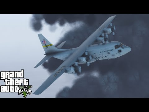 GTA 5 |USAF Hurricane Hunters Flying Directly Into A Category 5 Hurricane For Weather Reconnaissance