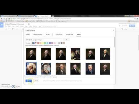 Creating a Brochure Using Google  Docs