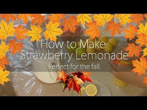 How to Make Strawberry Lemonade | DIY | Homemade