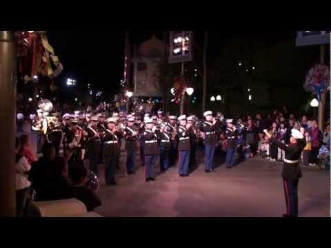 Marine Band - Disneyland Main Street U.S.A. : Veterans Day 2011