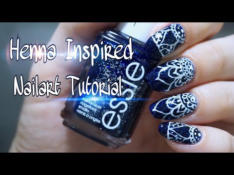 Handpainted | Henna inspired nailart tutorial