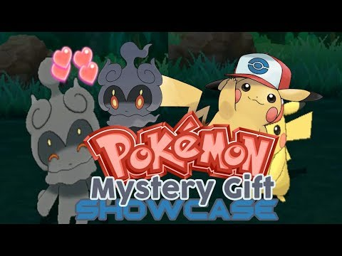 Pokemon Mystery Gift Showcase Part 25: Ash Pikachu (Unova Cap) and Marshadow