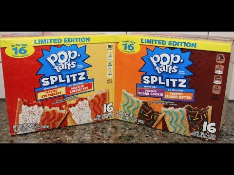 Pop Tarts Splitz: Frosted Strawberry/Drizzled Cheesecake & Sugar Cookie/Brownie Batter Review
