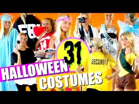 31 Last-Minute DIY HALLOWEEN COSTUMES!!!   DIY Halloween Costumes! Halloween Costume Ideas! 2017