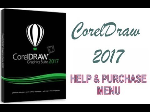 COREL DRAW 2017 USING HELP AND PURCHASE MENU HINDI URDU PART 53
