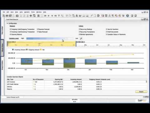 Cashflow Forecast Demo on SAP Business One, version for SAP HANA