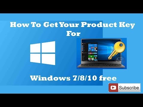 How To Get Your Product Key For Windows 7/8/10 free