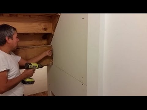 How To Cut And Install Dry Wall  in A  Difficult  Area - Trpezoid Patren-Step By Step - DI.Y