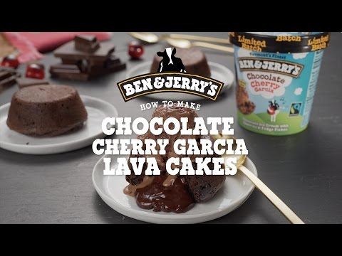 Chocolate Cherry Garcia Lava Cakes | Ben & Jerry's