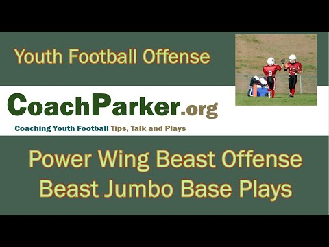 Beast Offense Plays - Jumbo Formation - Youth Football Playbook by Coach Parker