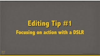 Cooking Video Editing Tip 1: Focusing on Action with a DSLR