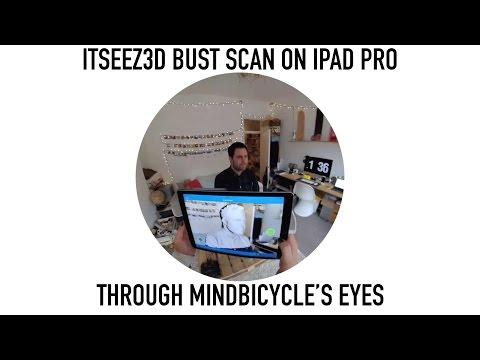 itSeez3D bust / head scan - 3D scanning on iPad