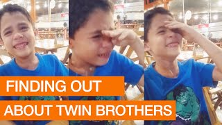 Emotional Moment as Boy Finds Out About Twin Brothers