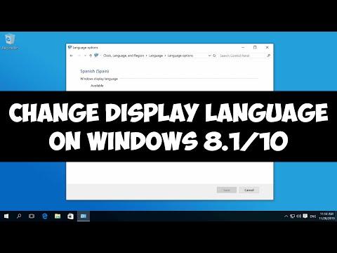 Change display language on Windows 8.1/10