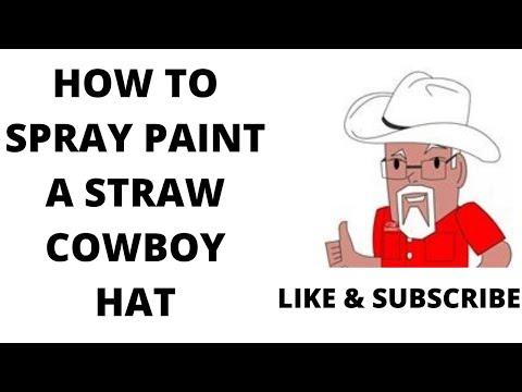 Spray Painting a Straw Cowboy Hat