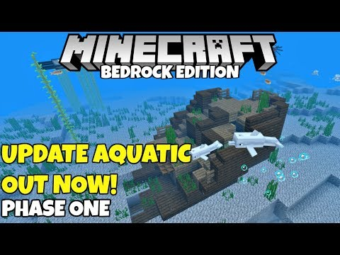 Minecraft Update Aquatic Is Out! All Phase One Details for Minecraft Bedrock Edition!