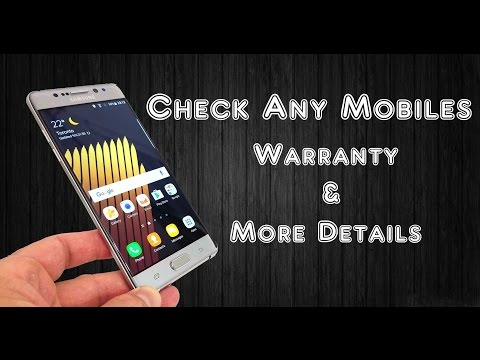How To Check Any Mobiles Warranty & More Details Easily