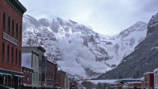 Avalanche Triggered from Telluride, Colorado