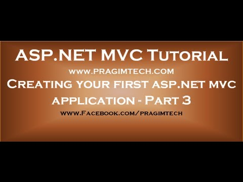 Creating your first aspnet mvc application - Part 3