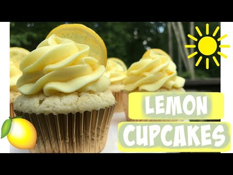 LEMON CUPCAKES || Lemon Cupcakes with Cream Cheese Frosting!