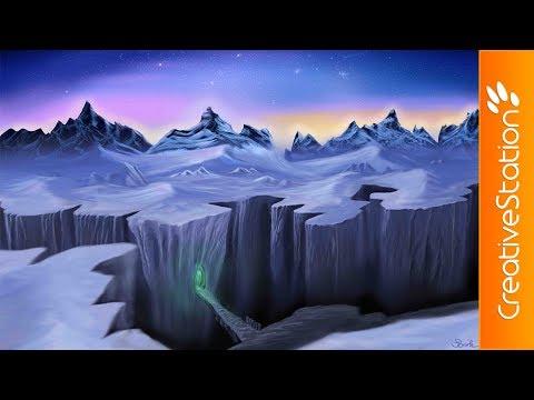 Winter wonderland - Speed Painting (#Photoshop) | CreativeStation