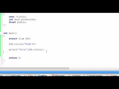 Linguaggio C - Struct e array di struct