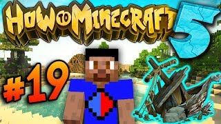 EXPLORING THE SHIPWRECK! - How To Minecraft S5 #19
