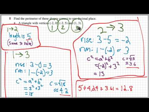 Perimeter of Triangle From Coordinates of Vertices