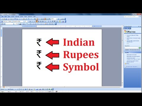 How to Add Indian Rupees Symbol in MS Word 2003, 2007, 2010, 2013, 2016