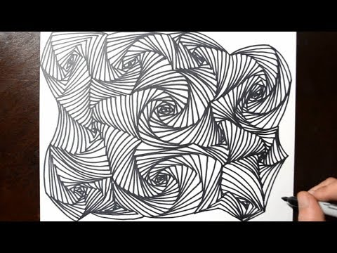 How to Draw Line Illusions - Doodle Art Drawing