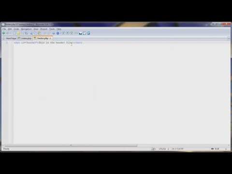 [PHP Series] 1.1 Create Dynamic Websites using PHP Includes [HD]