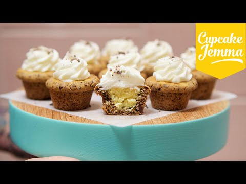 How to Make Chocolate Chip Cookie Cup Cupcakes | Cupcake Jemma