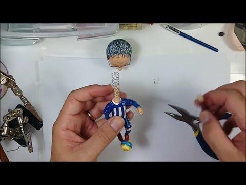 MAKING SPRING WIRE - How to make a bobblehead / Cum sa faci un arc la un Bobblehead