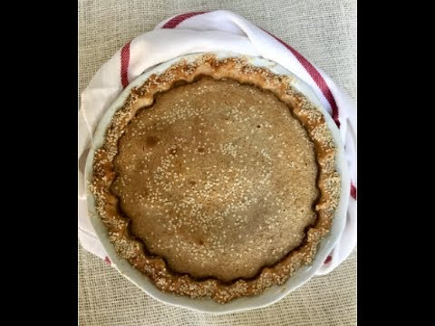 SESAME CUSTARD PIE