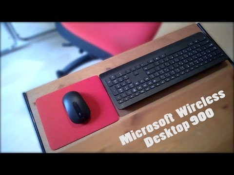 Microsoft Wireless Desktop 900  Unboxing & Review!