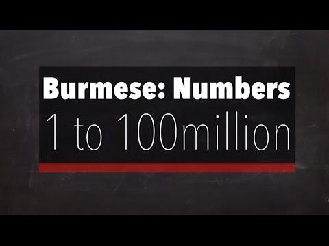 Learn Burmese Language: Numbers (1 to 100 Million)
