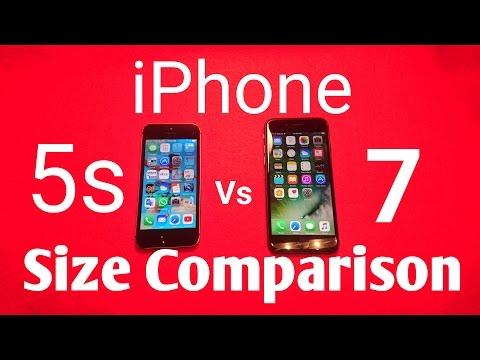 iphone 7 vs iphone 5s size comparison | QUICK