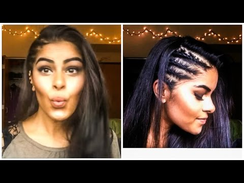 Cornrows (Tight Braids) on Side of Head with Straightening Techniques   AarushiBeauty  